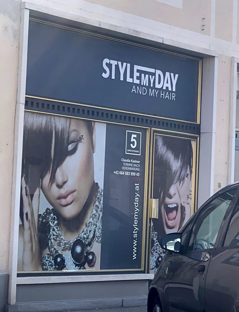 Style my day and my hair – Design und Beschriftung