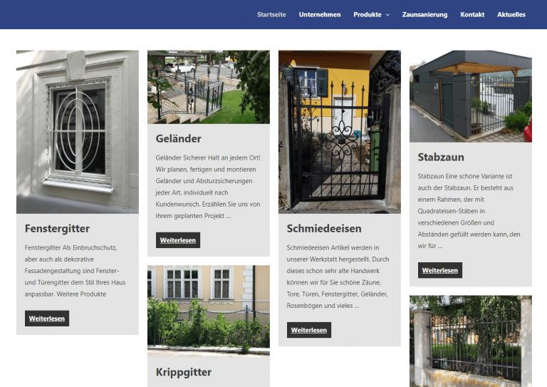 Fischer Gitter – Website